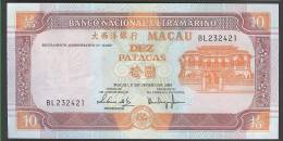 MACAO (MACAU): Banconota 10 Patacas  2003 - P76a - FDS - Macao