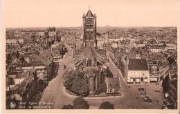 Gent-Gand-St Nikolaaskerk-Eglise St-Nicolas--tram Tramway- Vieilles Voitures -Oldtimers- Animée - Gent