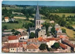 CPSM 24 VILLETOUREIX VUE AERIENNE PLACE DE L EGLISE  Grand Format - France