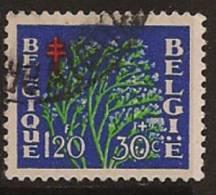BELGIUM 1950 1f20+30 Flower SG 1329 U OC252 - Gebruikt