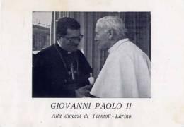 Santino - Papa Giovanni Paolo III - Alla Diocesi Di Termoli - Larino - 1987 - Images Religieuses
