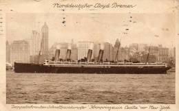 Doppelschrauben Schnellpostdamfer Kronprinzessin Cecilie Norddeutscher Lloyd Bremen 1914 Postcard - Paquebots