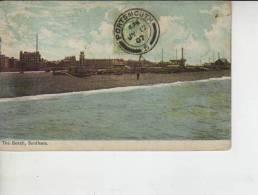 THE BEACH, SOUTHSEA  Circulada Año 1907    OHL - Portsmouth