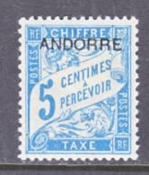 Andorra  J 1  * - Unused Stamps