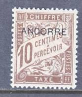 Andorra  J 2  * - Unused Stamps