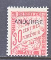 Andorra  J 3  * - Unused Stamps