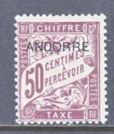 Andorra  J 4  * - Unused Stamps