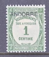 Andorra  J 9  * - Unused Stamps