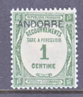 Andorra  J 9  * - Postage Due