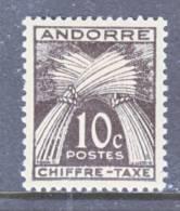 Andorra  J 21  * - Postage Due