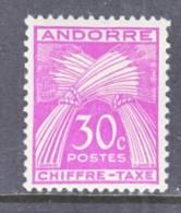 Andorra  J 22  * - Unused Stamps