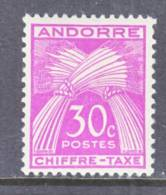 Andorra  J 22  * - Postage Due