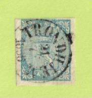 NOR SC #1  1855 Coat Of Arms  W/SON (TRONDHEIM / 7-21-1856), CV $175.00 - Used Stamps