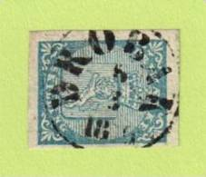 """NOR SC #1  1855 Coat Of Arms 4 Margins  W/SON (DROBAK / 3-8-18(?)6""""), CV $175.00 - Used Stamps"""