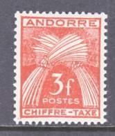 Andorra  J 27  * - Unused Stamps