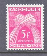 Andorra  J 29  * - Postage Due