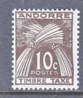 Andorra  J 32  * - Unused Stamps