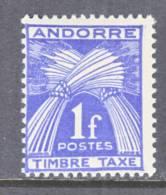 Andorra  J 33  * - Unused Stamps