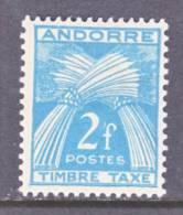 Andorra  J 34  * - Unused Stamps