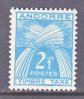 Andorra  J 34  * - Postage Due