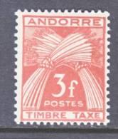 Andorra  J 35  * - Postage Due