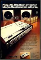 Reklame Werbeanzeige  ,  Philips N2400 Stereo-Anlage  ,  Von 1972 - Wissenschaft & Technik
