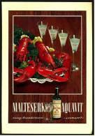 Reklame Werbeanzeige  ,  Malteser Aquavit  -  Zum Anwärmen Eiskalt  ,  Von 1968 - Andere Sammlungen