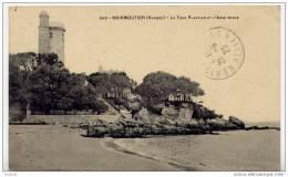 ILE DE NOIRMOUTIER EN VENDEE  LA TOUR PLANTIER ET L´ANSE ROUGE CPA CIRCULEE - Ile De Noirmoutier