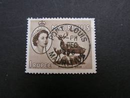 == Maurutius , Port Lois 1956 Perfect Cancel - Mauritius (1968-...)