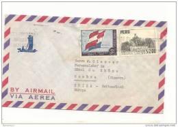 AM - 7616 - Lettre Avion Envoyée De Lima / Pérou En Suisse 1959 - Perù