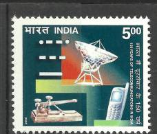 INDIA, 2003, 150 Years Of Telecommunications In India, Telecom, Antenna, Telegraph Instrument, Mobile,  MNH, (**) - Telecom