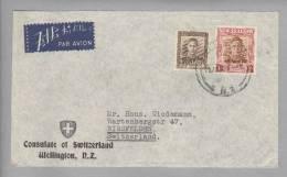 Motiv Consulat Botschaft Consulat Of Switzerland Wellington No-2 1928-01-29 - 1907-1947 Dominion