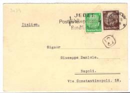 VER2479 - GERMANIA 26/9/1933 , Lettera Diretta In Italia - Storia Postale