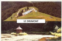88 - Vosges - BUSSANG - Le DRUMONT - Vue Aérienne ( Au Dos Tampon De La Ferme Auberge )  -  Format  10 X 14,9 - Bussang