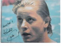 Natation - Cornélia ENDER - Dédicace - Hand Signed - Autographe Authentique  - - Swimming