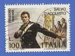 ITALIE ITALIA 1308 ITALY 1502 OBLITERE SALVO D' ACQUISTO - 1946-.. République