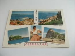 Pin Up  Gibraltar Gibilterra  Vedute Rock From Airfield - Gibilterra