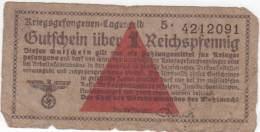 Ticket De Prisonnier De Guerre Allemand - Kriegsgefangenen- Lagergeld - 1939-45