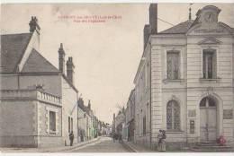 CPA 41 SAVIGNY SUR BRAYE Rue Des Pépinières Hôtel De Ville La Poste Et Facteur 1918 - France