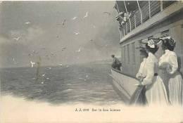 Fev13 733 : Lac Léman  -  Mouettes  -  Bateau - VD Vaud