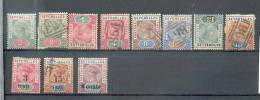 C10 Seychelles - YT 1* Et Obli,2(*) Et Obli- 3 Obli-4 Obli- 5(*) - 6obli- 13*-14 Obli - 33*- - Seychellen (...-1976)