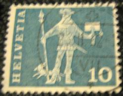 Switzerland 1960 15th Century Cantonal Messenger From Schwyz 10c - Used - Switzerland