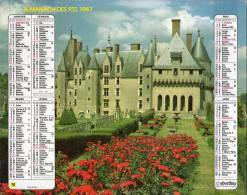 Calendrier PTT 1987Chateau - Calendriers