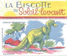 Buvard Biscottes Du Soleil Levant  Animaux Préhistoriques  Trachodon  Dinosaure - Biscotti