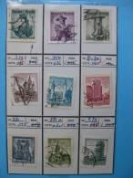 Timbres Autriche : Metiers Et Monuments 1950/ 1958 - 1945-.... 2a Repubblica