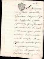 GENERALITE DE DIJON _ DEUX SOLS _ LIBELLE & SOMMATION _ 24/03/1747 - Seals Of Generality
