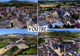 55 En Avion Au Dessus De VOUTRE Vue Generale Eglise Carrieres Vue D'ensemble - France