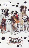 Télécarte  * CHIEN * 102 DALMATIANS JAPAN * DISNEY * DOG (1961)  Phonecard * HUND Telefonkarte * HOND - Disney