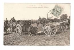 CPA - Manoeuvres Est 1905 : Artillerie S´apprêtant à Disparaître Après Le Tir : Soldats, Canons, Chevaux  ... - Manovre