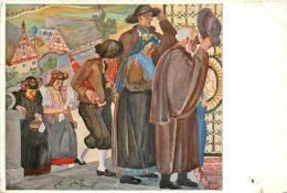 Czech Painting Kirchgang Im Egerlande Drucksache - Czech Republic